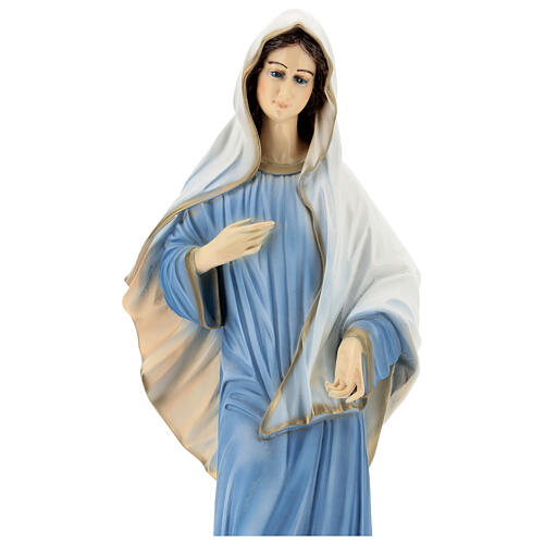Virgen de Medjugorje iglesia polvo de mármol 60 cm EXTERIOR