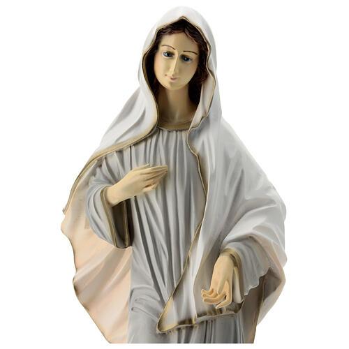 Virgen Medjugorje pintada polvo mármol iglesia 60 cm EXTERIOR