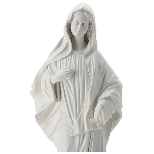 Virgen Medjugorje polvo mármol blanco 60 cm EXTERIOR