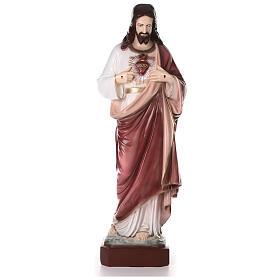 Sagrado Coração de Jesus pó de mármore 105 cm PARA EXTERIOR