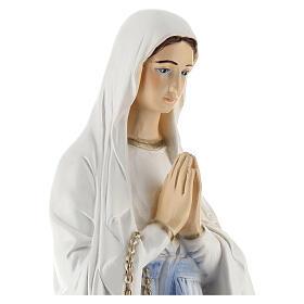 Nossa Senhora de Lourdes pó de mármore roupa branca 65 cm PARA EXTERIOR
