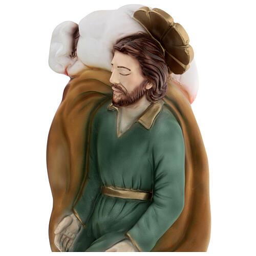 São José adormecido pó mármore 40 cm