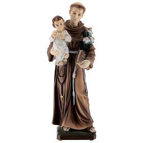 Estatua San Antonio polvo de mármol 30 cm EXTERIOR