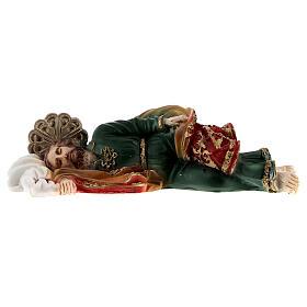 Schlafender Sankt Joseph aus Marmorpulver, 12 cm s1