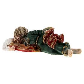 Schlafender Sankt Joseph aus Marmorpulver, 12 cm s4