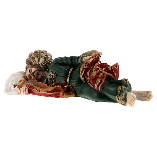 Schlafender Sankt Joseph aus Marmorpulver, 12 cm 4