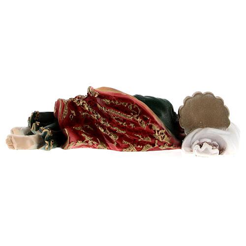 Schlafender Sankt Joseph aus Marmorpulver, 12 cm 5