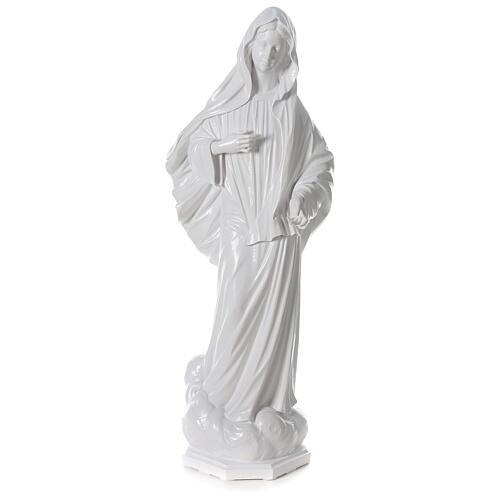 Virgen Medjugorje polvo mármol blanco 150 cm EXTERIOR