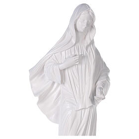 Our Lady of Medjugorje statue reconstituted marble with church 90 cm OUTDOOR s2