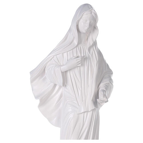 Our Lady of Medjugorje statue reconstituted marble with church 90 cm OUTDOOR 2