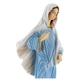 Notre-Dame de Medjugorje robe bleue poudre de marbre 30 cm EXTÉRIEUR