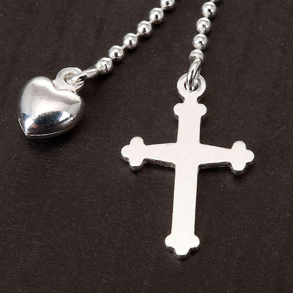 Collana Argento 925 croce e cuore 4