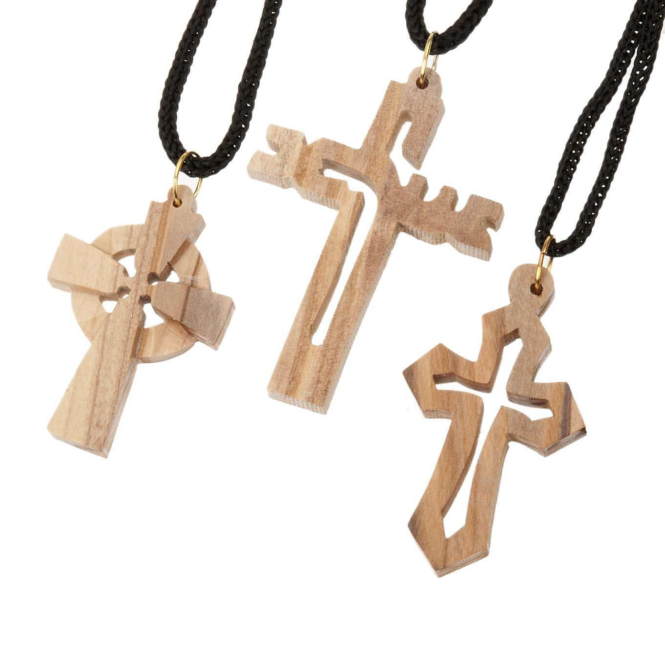 Croce legno olivo 4