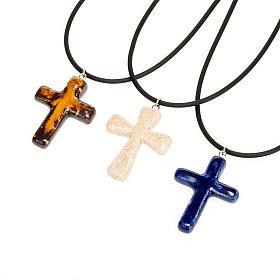 Croce pendente ceramica s1