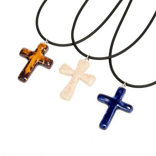 Croce pendente ceramica 1