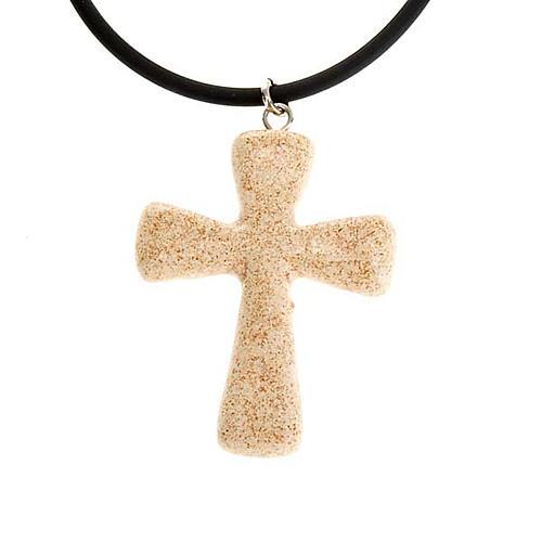 Croce pendente ceramica 3