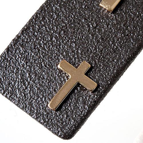 Pendentif en grés cérame avec croix 2
