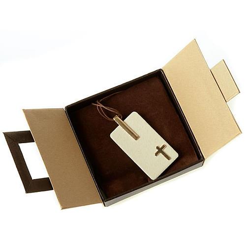Pendentif en grés cérame avec croix 3