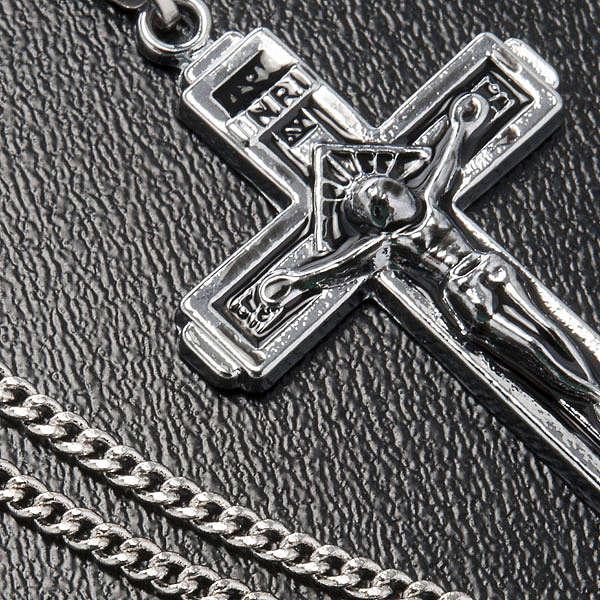 Croce pendente acciaio con catenella 4
