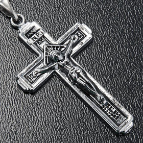 Croce pendente acciaio con catenella s2
