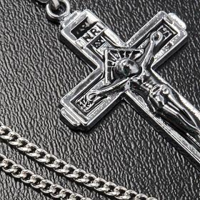 Croce pendente acciaio con catenella s3