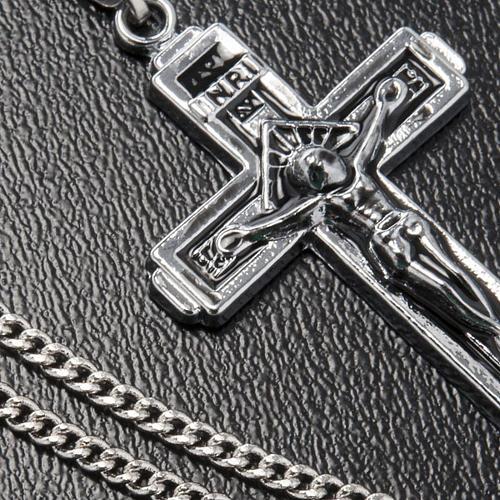 Croce pendente acciaio con catenella 3