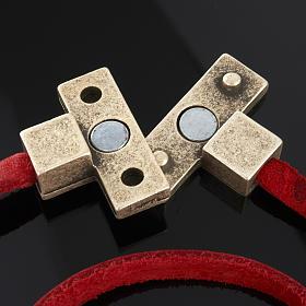 Collier croix métal cuir Medjugorje s4