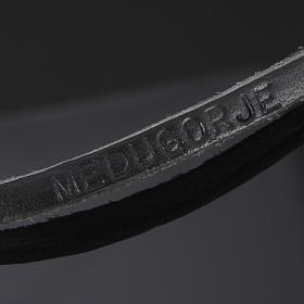 Collier croix métal cuir Medjugorje s6