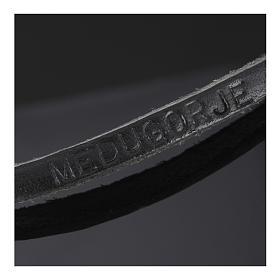 Collana croce metallo pelle Medjugorje s6