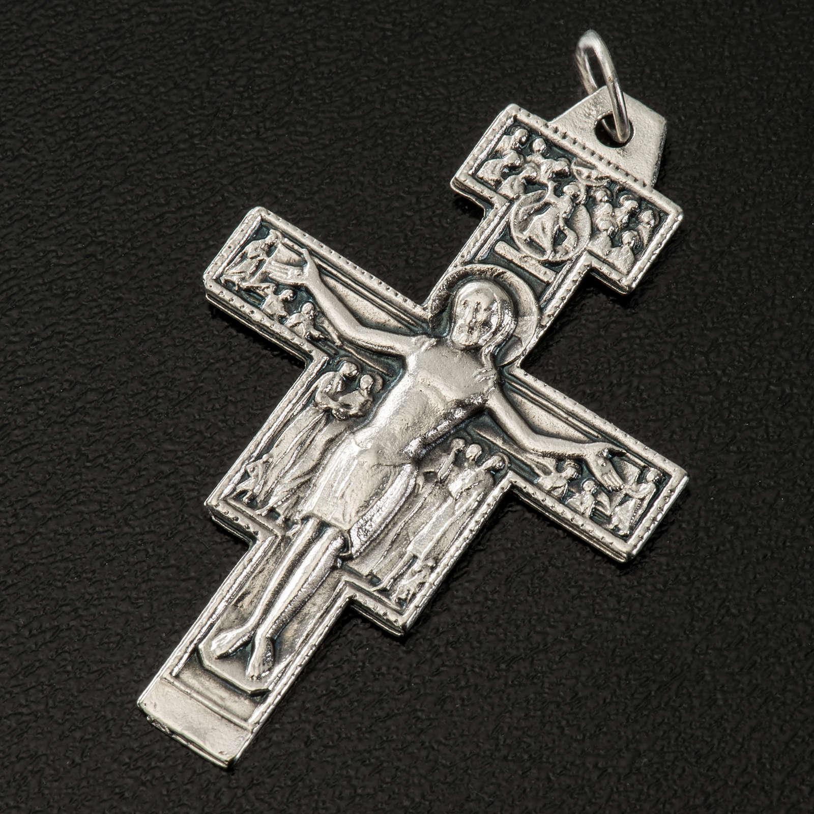 Aquileia cross pendant, steel 3cm 4