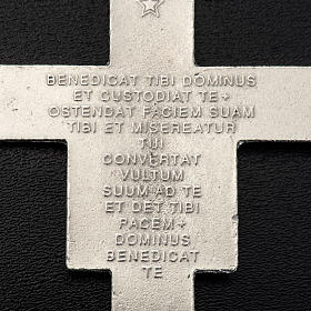Saint Damien cross pendant, silver metal 8.5cm s3