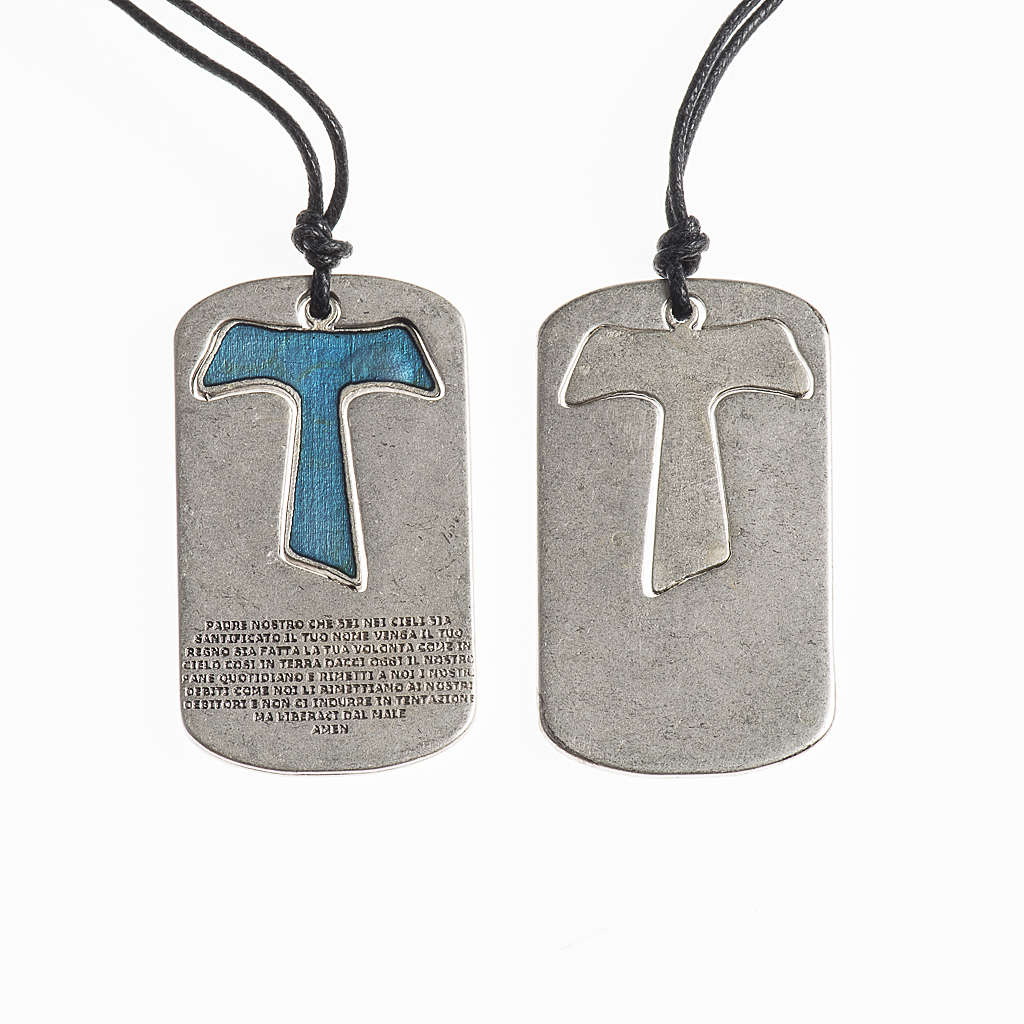 Ciondolo Croce Tau Padre Nostro con filo 4