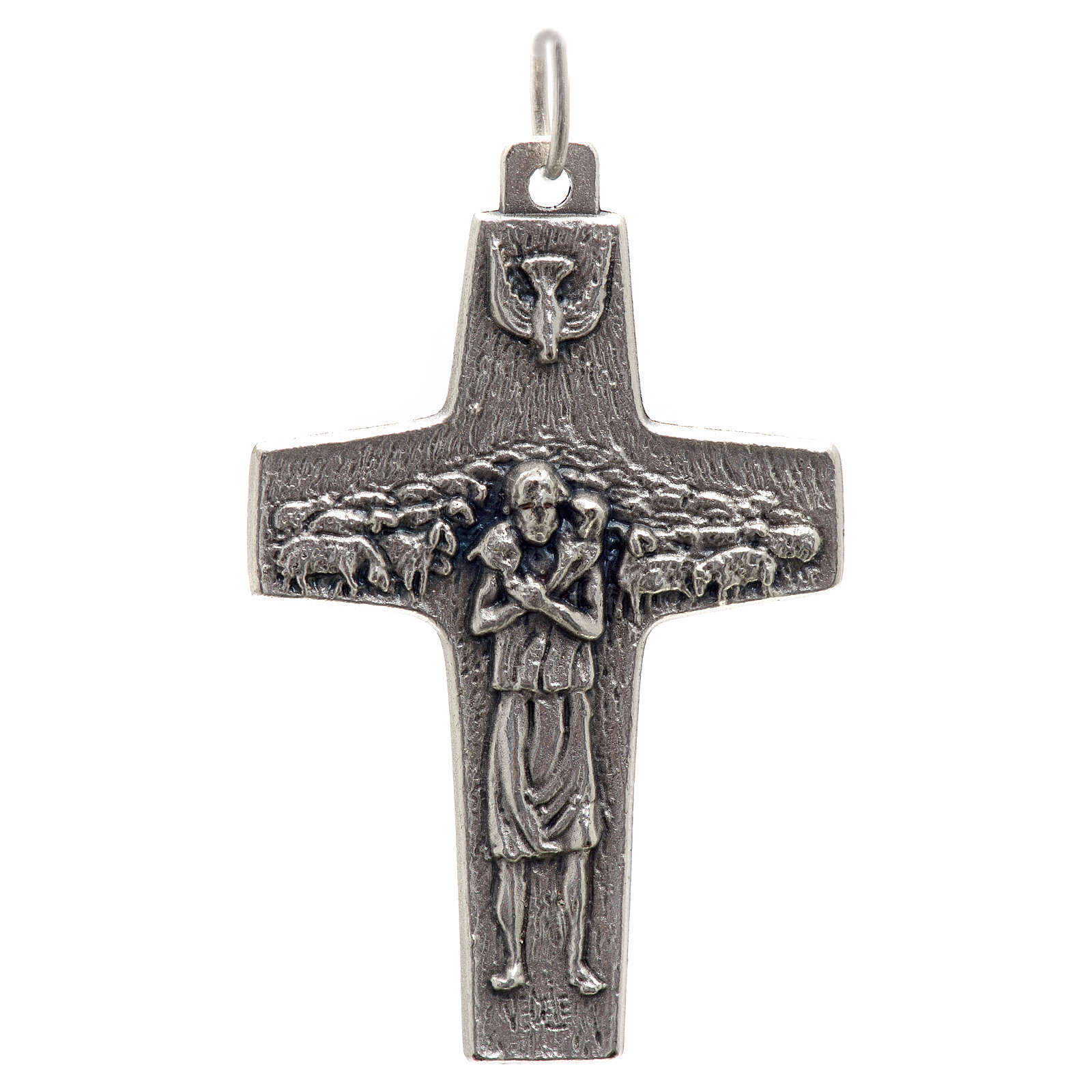 Pope Francis cross pendant metal 4x2.5cm 4