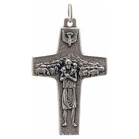 Metal Cross Pendants: Pope Francis cross pendant metal 4x2.5cm