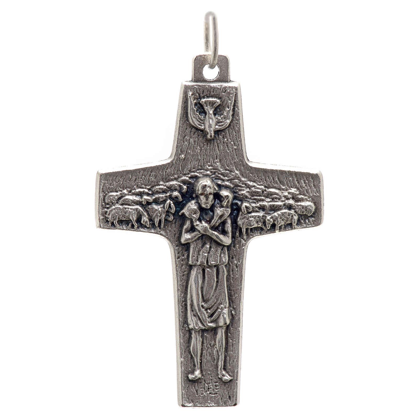 Pendente croce Papa Francesco metallo 4x2.5 cm 4