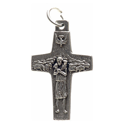 Colgante cruz Papa Francisco metal 3x1,6 1