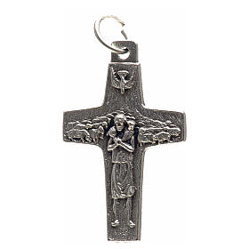 Pendenti croce metallo: Pendente croce Papa Francesco metallo 3x1,6