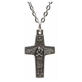 Collana croce Papa Francesco metallo 3x1,6 s1