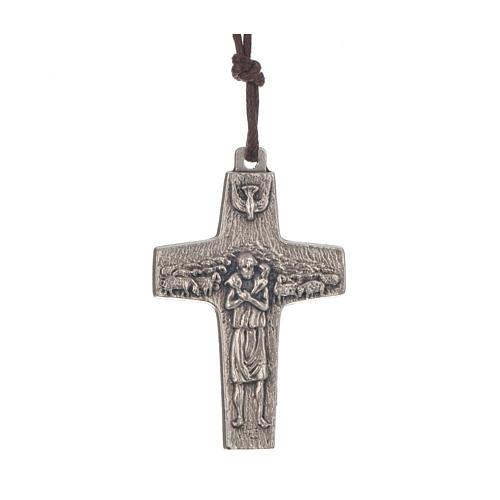 Croix Pape François 4x2,6 cm avec corde 1