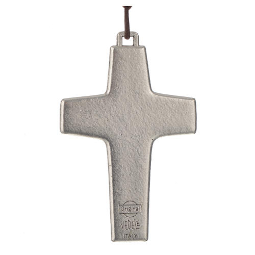 Cross of Pope Francis in metal with string, 8x5cm 2