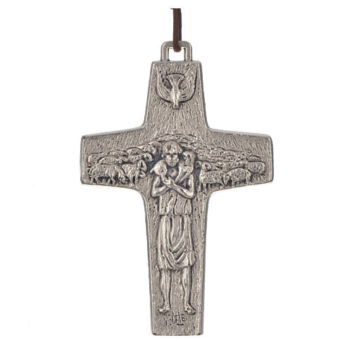 Collar Cruz Papa Francisco metal 8x5cm 1