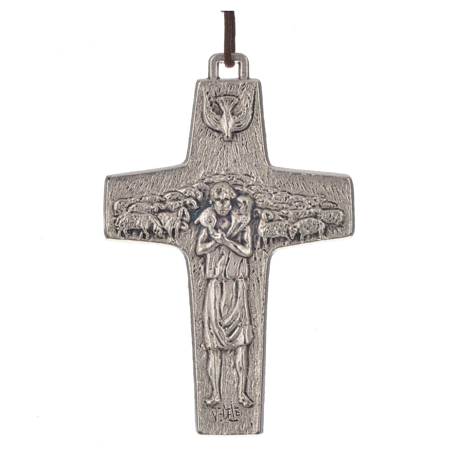 Collana Croce Papa Francesco metallo 8x5 4