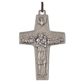 Collana Croce Papa Francesco metallo 8x5 s1