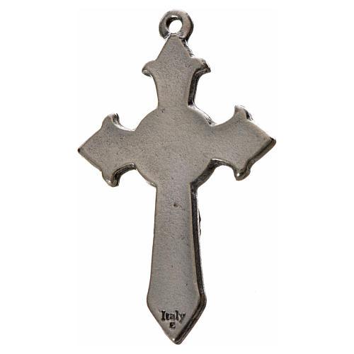 Cruz puntiaguda Espíritu Santo 4.5x2.8cm zamak y esmalte negro 2