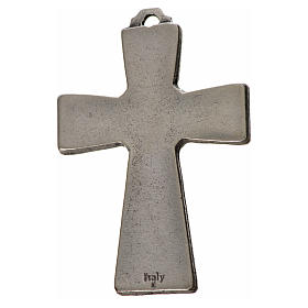 Croce Spirito Santo zama cm 5x3,5 smalto bianco s2