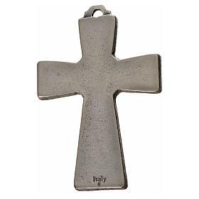 Holy Spirit cross 5x3.5cm in zamak, white enamel s2