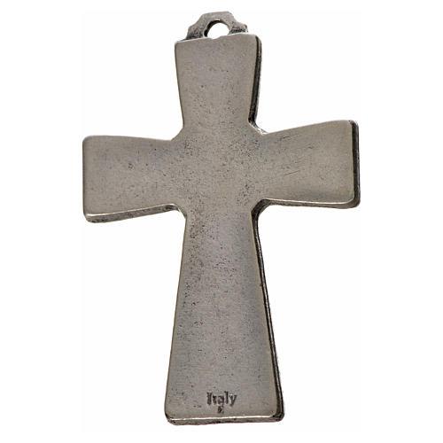 Holy Spirit cross 5x3.5cm in zamak, white enamel 2