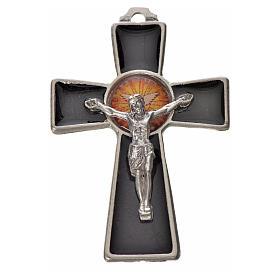 Croix Saint Esprit 5x3,5 zamac émail noir s1