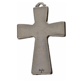 Holy Spirit cross 5x3.5cm in zamak, black enamel s2