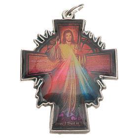 Pendentif croix Christ Miséricordieux s1